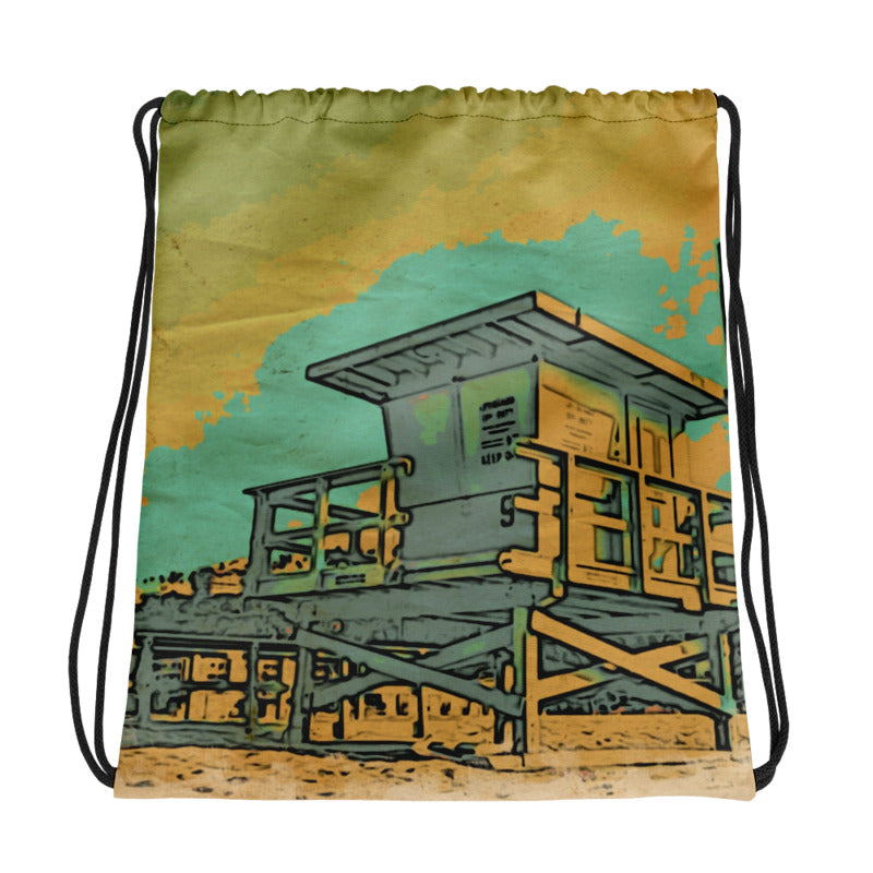 Standing Guard Drawstring Bag