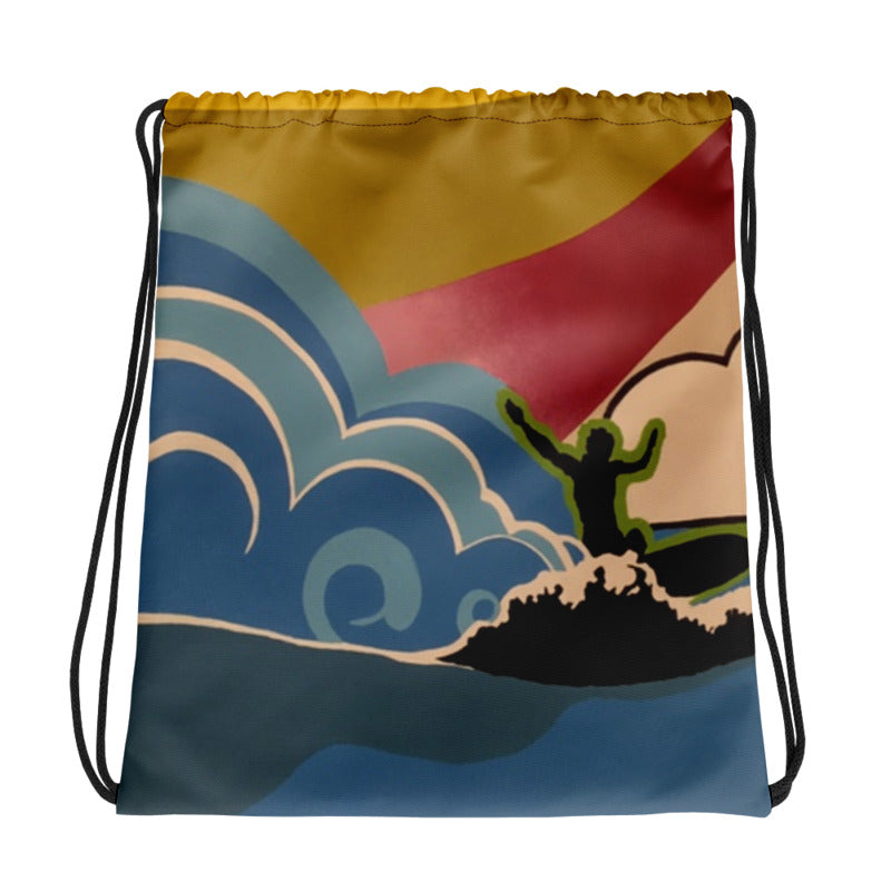 Surfs Up Drawstring Bag