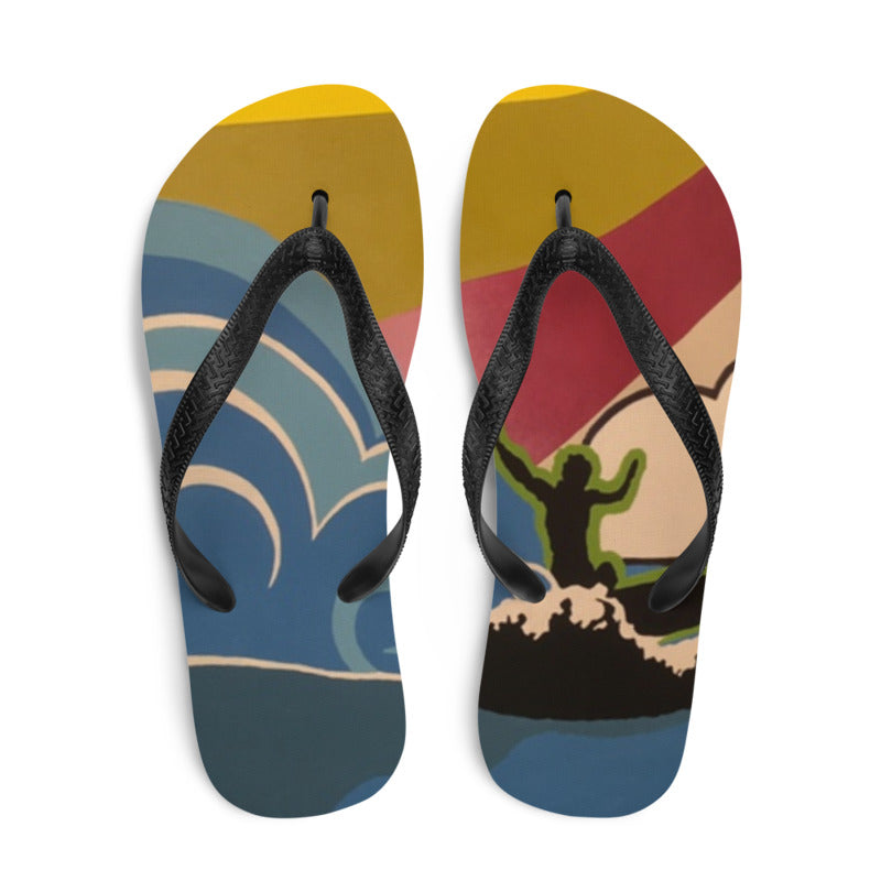 Surfs Up Flip Flops