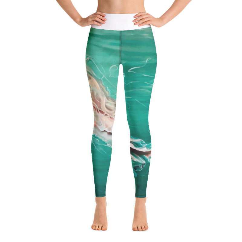 AQUA WATERS HIGH RISE YOGA PANTS