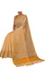 Soft & subtle yellow striped cotton saree - EthnicRoom