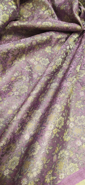 Light purple pure silk blouse fabric - EthnicRoom