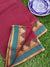 Maroon south cotton narayanpet saree with green and zari border