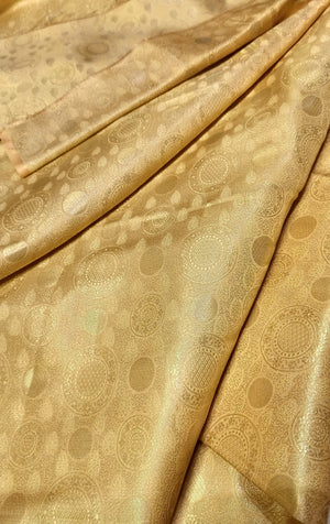 Cream pure silk blouse fabric