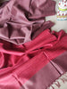 Dark Maroon moonga/munga silk with pure tusser red aanchal and tusser blouse