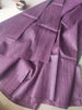 Dark purple plain borderless bhagalpuri pure tussar saree with blouse