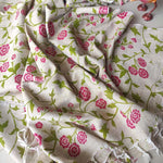 Block printed bhagalpuri cotton silk dupatta