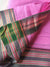 Pink narayanpet south cotton with small black & zari border