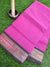 Pink plain narayanpet south cotton with patola border
