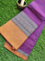 Wine/Purple narayanpet south cotton saree with wide resham square weaving border