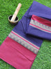 Purple narayanpet south cotton saree with resham wide border of red