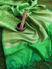 Silk dupatta with zari weaving allover on bright green