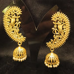 Beautiful parrot design matte jhumka danglers