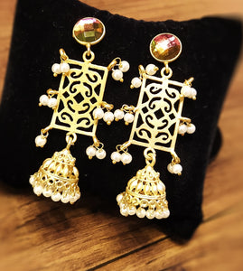 Beautiful lightweight matte small jhumka danglers