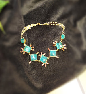 Blue stone party wear necklace