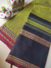 Green narayanpet south cotton saree with resham wide black border