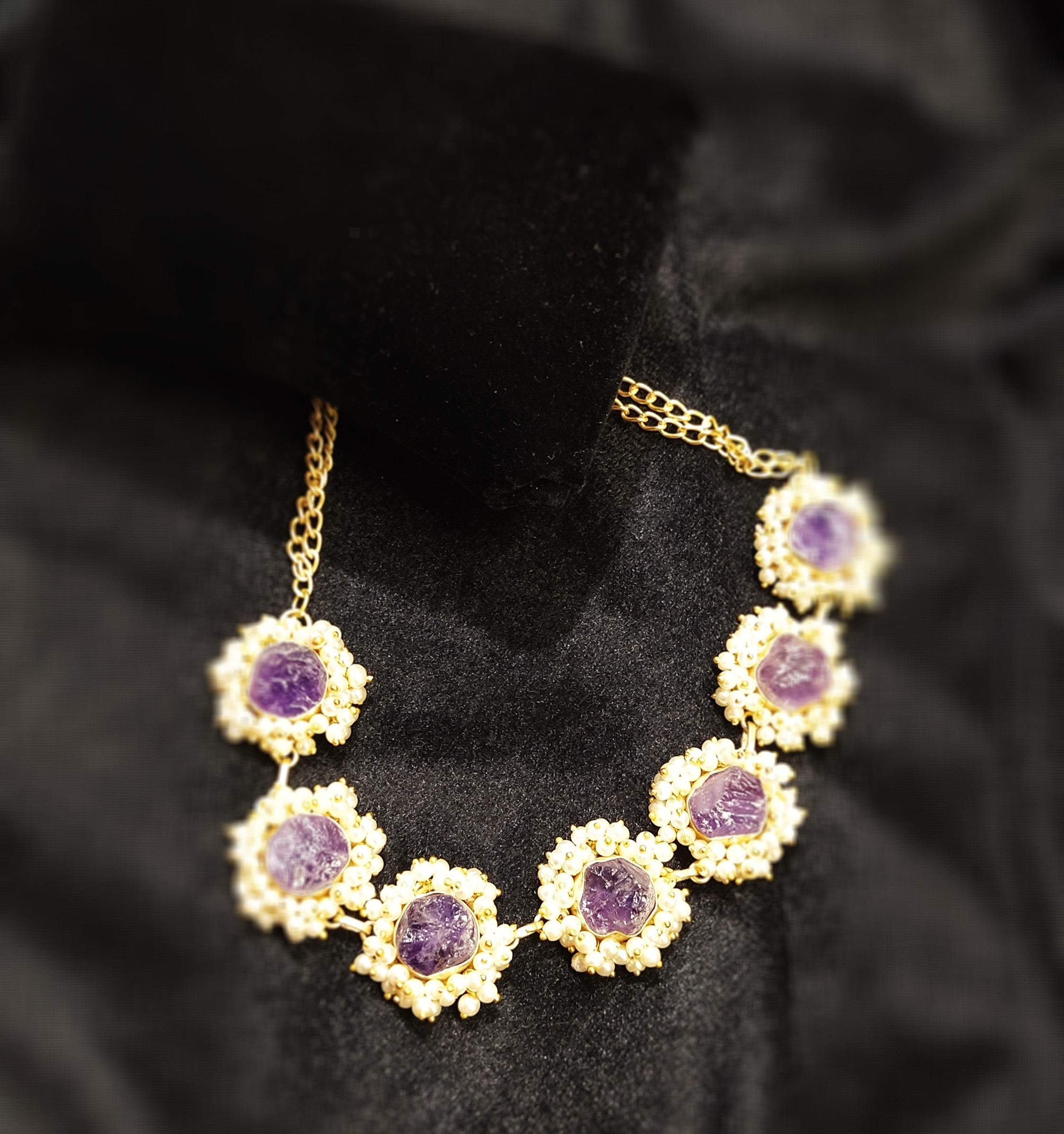 Amethyst choker / necklace