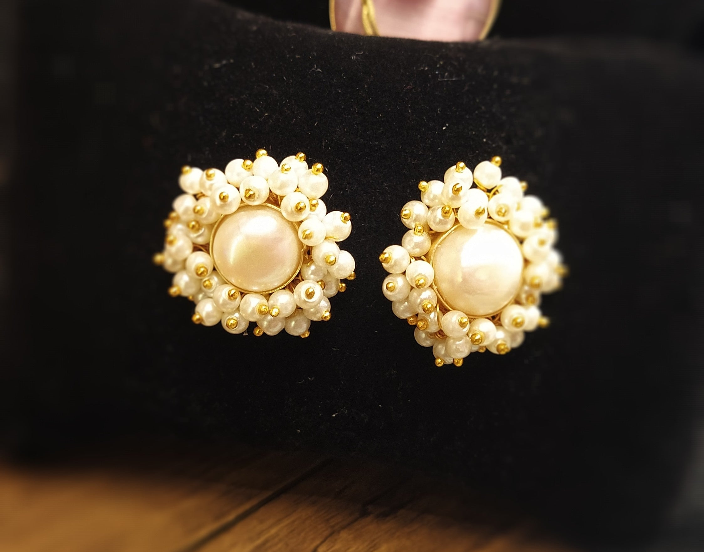 Beautiful pearl studs