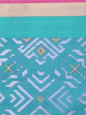 Tanchui kora overall jaal of Blue and green weaving