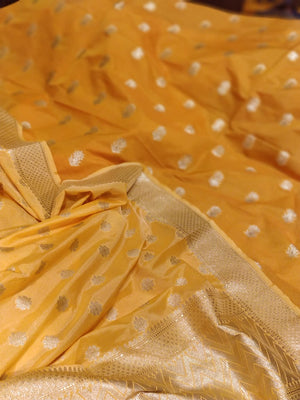 Yellow silk dupatta with yellow silk suit material - EthnicRoom