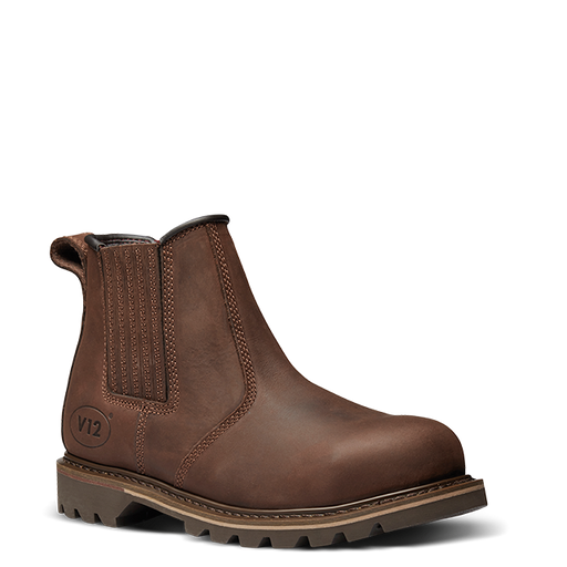 V12 Footwear V1231 RAWHIDE Brown Safety Dealer Boot