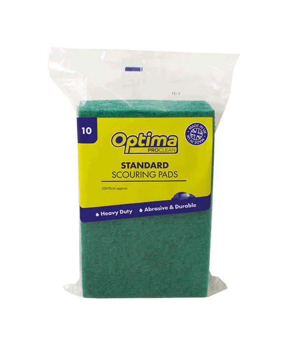Optima Proclean Green Scouring Pads - Pack of 10