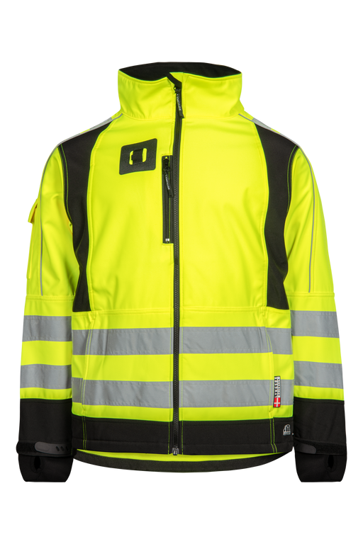 LYNGSOE WINDFARM SOFT SHELL HI VIS JACKET