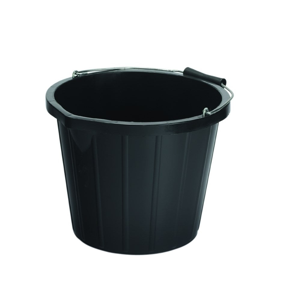 Black Industrial Bucket