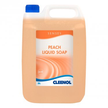 Cleenol Senses Peach Liquid Soap 5 Ltr