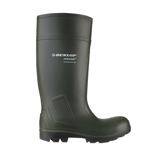 Dunlop Purofort Full Safety Green Wellington Boot