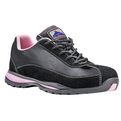 Portwest FW39 Ladies Steelite Safety Trainer S1P HRO Black/Pink