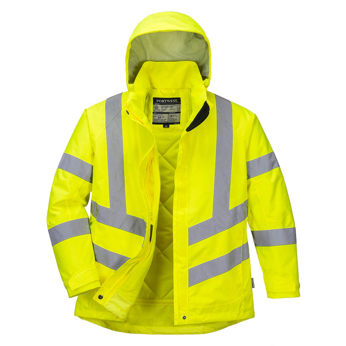 Portwest LW74 Ladies High Visibility Winter Jacket Yellow
