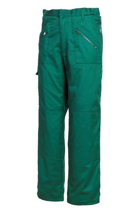TRA Mens Lined Action Trouser Zip Pocket Cargo Bottle Green