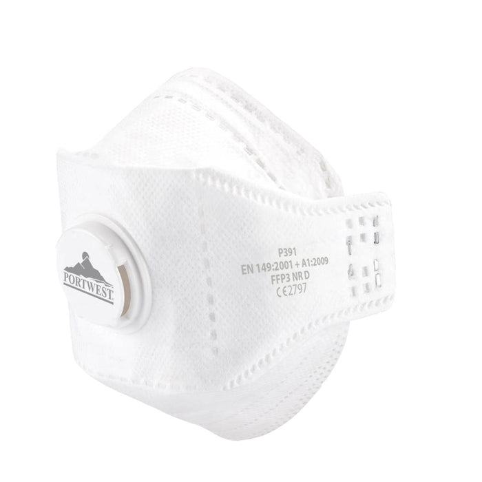 Portwest P391 Eagle Valved Dolomite Fold Flat Dust Mask