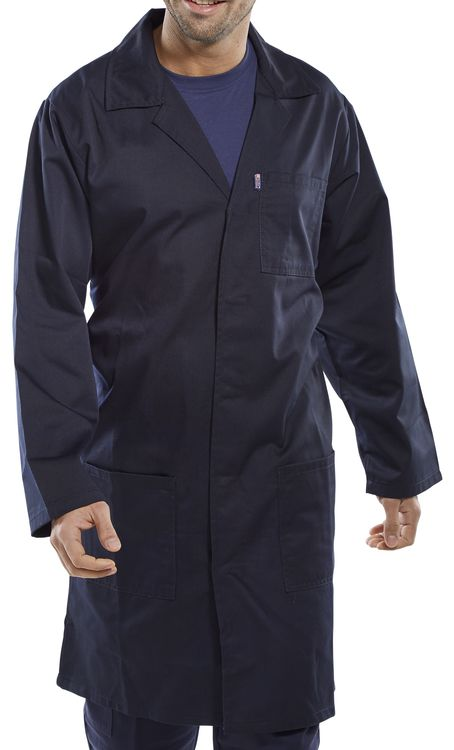 Beeswift Click PC Warehouse / Shop Coat Navy