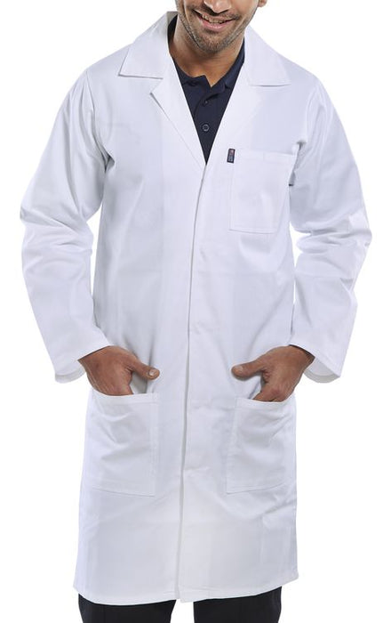Beeswift Click PC Warehouse / Shop Coat White