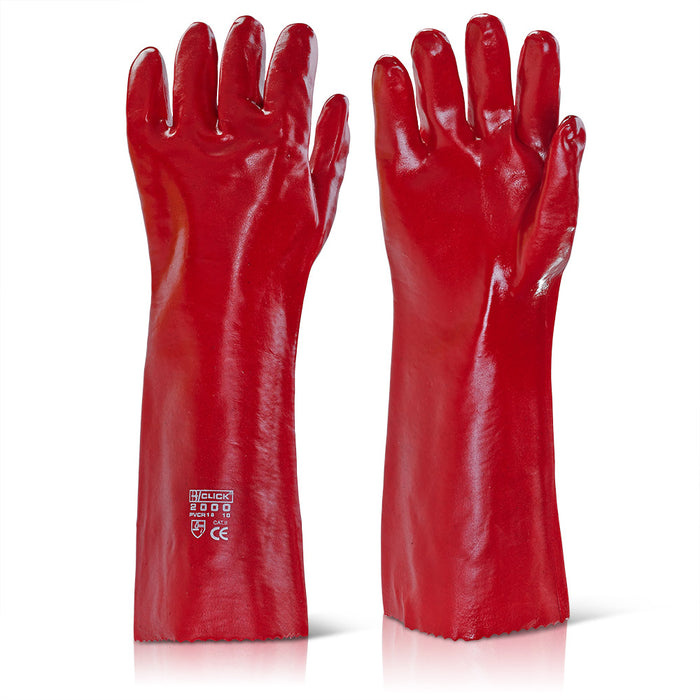 Beeswift Red PVC Gauntlet 18 Inch