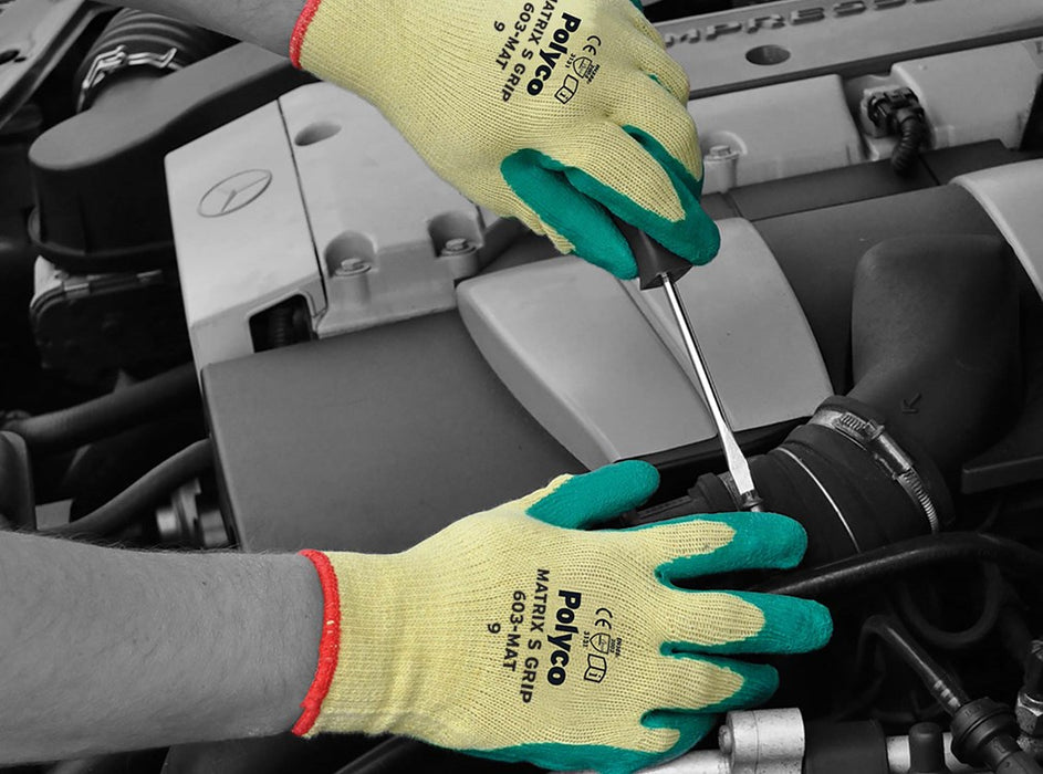 Polyco Matrix S Grip Gloves Green