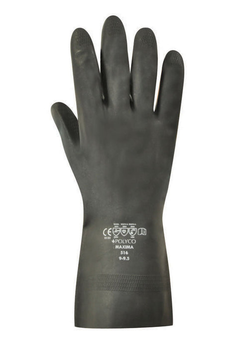 Polyco Maxima H/D Flock Lined Rubber Glove