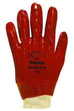 Load image into Gallery viewer, Polyco Red PVC Knit Wrist Glove
