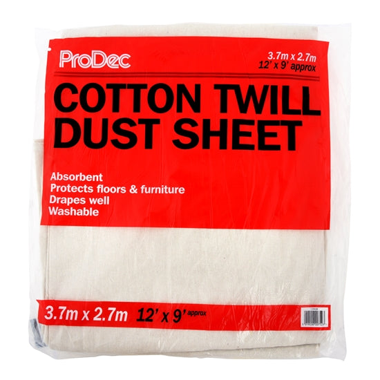 Rodo Cotton Twill Painters Dust Sheets 12x9ft