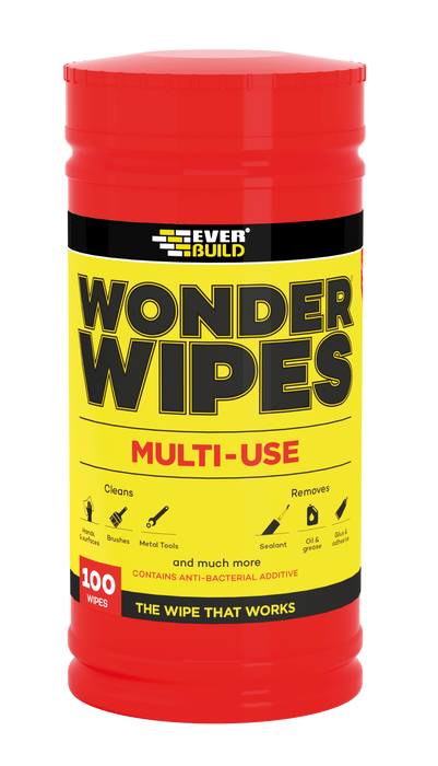 Everbuild Multi Use Wonder Wipes (Tube of 100 Wipes)