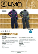 Load image into Gallery viewer, LMA Workwear Fleur Two Tone Kids Coverall