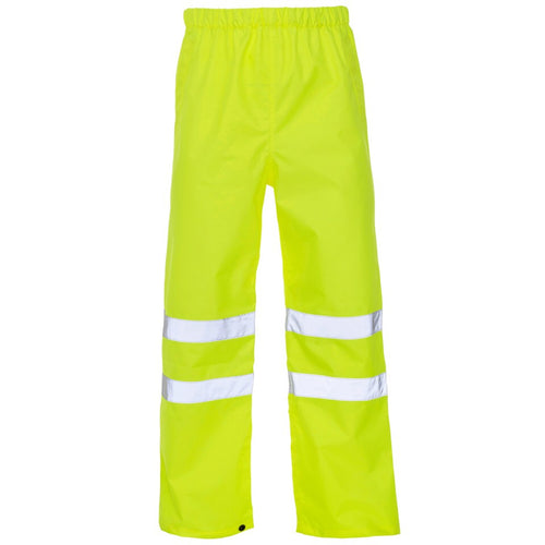 hi vis rain trousers waterproof yellow