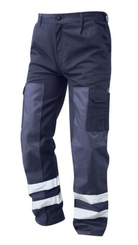 Ballistic Lined Navy Action Trousers with Taped Leg