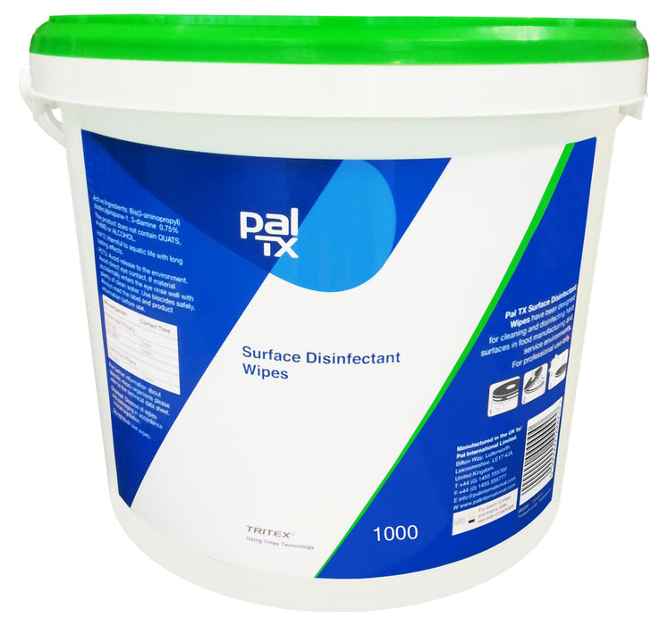 PAL Multi Purpose Surface Sanitising Wipes - x1000 per Bucket