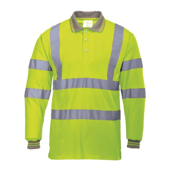 Portwest Hi Vis Long Sleeve Polo Shirt