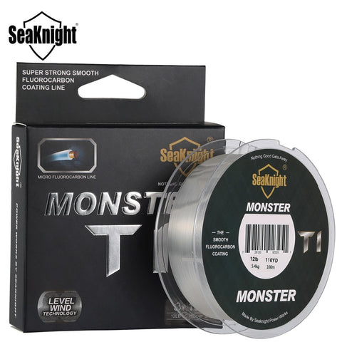 New Arrival SeaKnight MONSTER T1 100M Fluorocarbon Fishing Line 100% Fluorocarbon Coating Monofilament Leader Sinking Line
