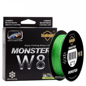 SeaKnight W8 Braided Fishing Line 500M  8 Strands Wire  Carp Fishing 15 20 30 40 50 80 100LB PE Multifilament Line