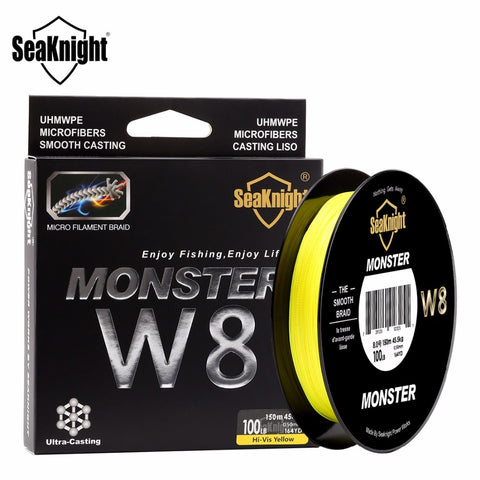 Seaknight  W8 8 Strands PE line 150M  Braided Fishing Line 20-100LB Multifilament Line Carp Fishing Cord